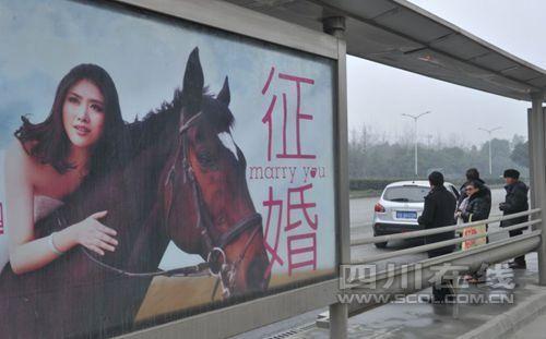 女孩公交站台征婚