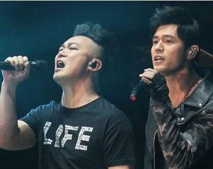 周杰伦陈奕迅跨年晚会同台飙歌 周杰伦被女粉丝告白
