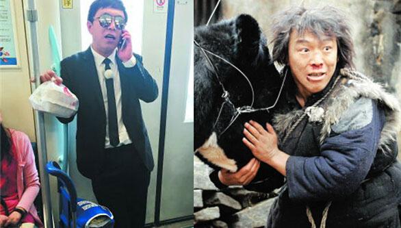 黄渤地铁蹭盒饭 网友:这是在送外卖吗