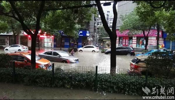 武汉特大洪水 大暴雨致部分交通瘫痪