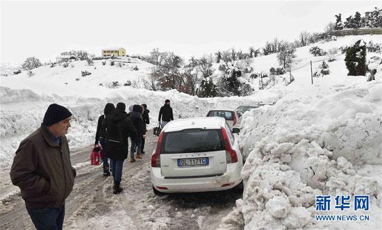 意大利地震引雪崩 被埋酒店发现约30名死者