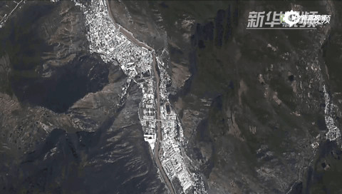 九寨沟地震20死 卫星拍摄当时地震真实画面